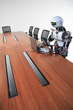 Boardroom Table with Fuel  Data Soft Wiring System