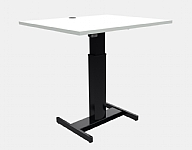 Small Desk White Top Height Adjustable