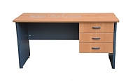 Office Desk with Fixed Drawers