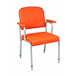 Alfred Z Frame Arm Chair with Adjustable Legs