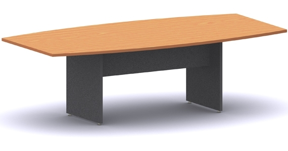 Boat Shape Board Table - H Base