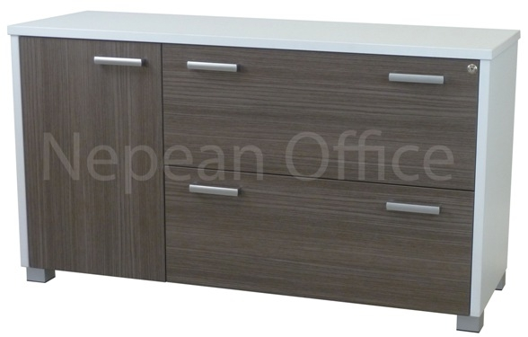 Lateral Filing Credenza 1 Door & 2 Lateral Drawers