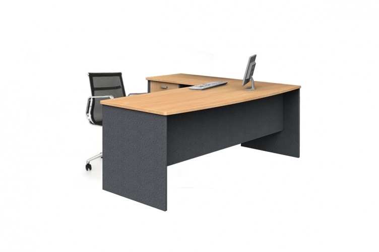 Bow Front Desk & Return