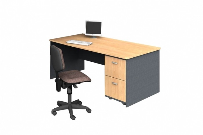 Office Desk with Two File Drawers