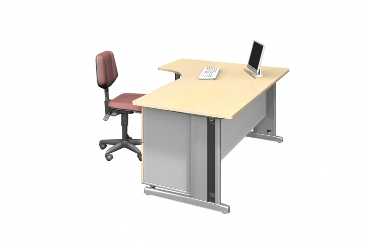 System J-Shape Office Desk