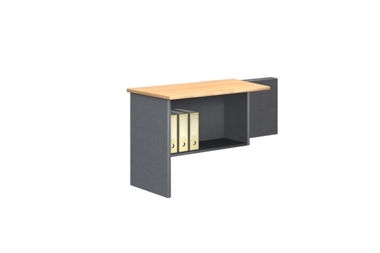 Fixed Desk Return with Shelf