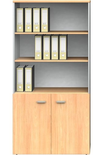 Bookcase Half Stationery Cupboard