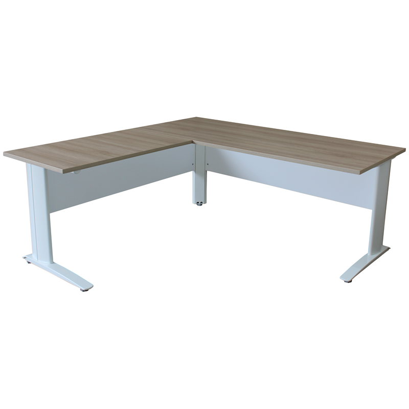 Freshwater Desk & Return White Cantilever Legs