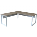 Freshwater Desk & Return White Metal Frame