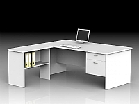 Desk With Drawers and Return