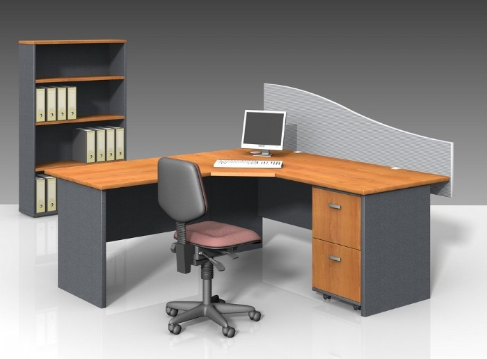 Three Piece Corner Workstation