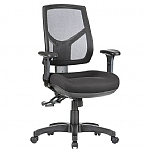 Hino Mesh Medium Back Chair with Arms