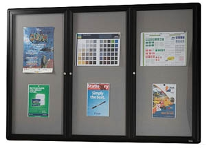 Black Hinged Door Notice Case