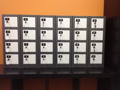Mini Lockers with Number Tags