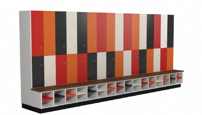 Melamine Lockers with Shoe Rack