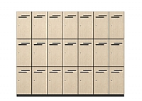 Three Door Melamine Lockers