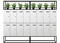 Garden Lockers Metal Frame