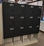 Custom Melamine Lockers with Numbers