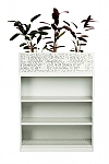 Bookcase with Planter Box
