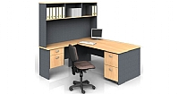 Office Desk  & Return with Hutch