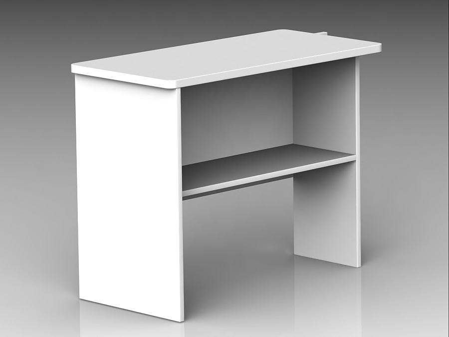 Freestanding Return with Shelf