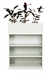 Bookcase with Non Perforated Planter Box