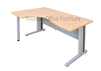 Q Desk with Metal Legs