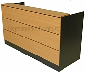 Commercial Plank Reception Desk