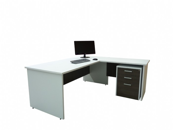 Desk and Return Mobile Drawers
