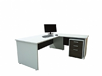 Bronte Desk and Return & Mobile Drawers