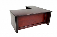 Timber Veneer Desk and Return