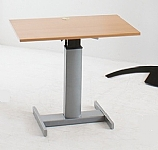 Small Desk Beech Top Height Adjustable