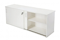 White 1800 Long Credenza