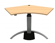 Angle Shape Corner Sit Stand Desk