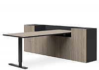 Berkeley Tailor Sit Stand Executive Desk and Two Tier Storage