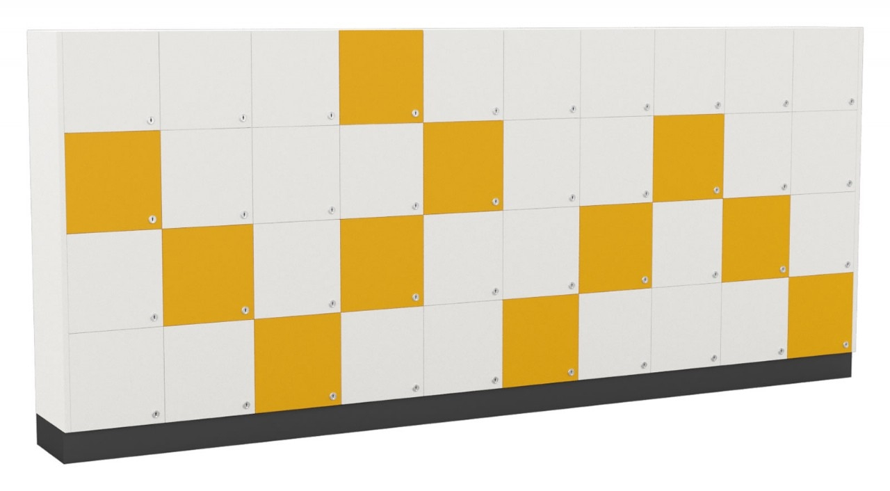 Melamine Lockers Sqaure Doors