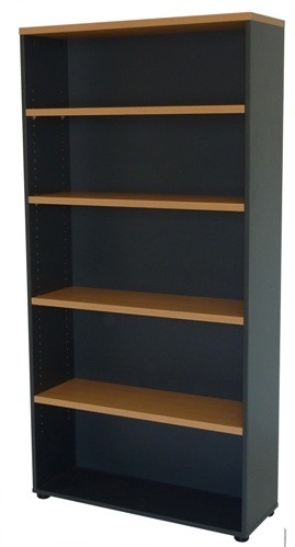 Vertical Bookcase Solid Back