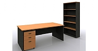 Desk & Bookcase Package