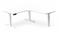 Heavy Duty Corner Sit Stand Desk 270kg Capacity