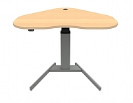 Heart Shape Corner Sit Stand Desk