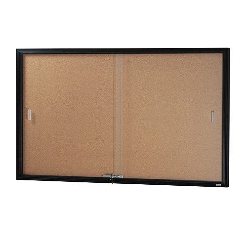 Black Be Noticed Sliding Door Notice Case