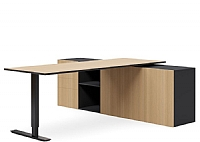 Tailor Sit Stand Executive Desk and Buffett,