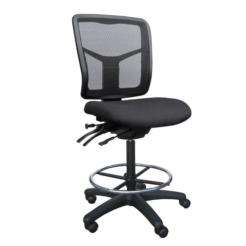 Tran Mesh Medium Back Drafting Chair