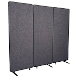 ZIP Acoustic Three Panel Divider Screen