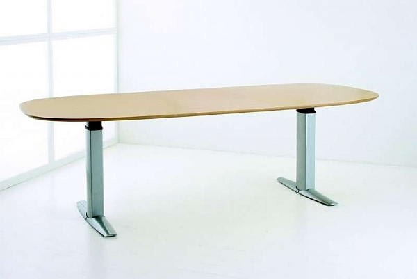 Conset Height Adjustable Meeting Table Large Electric Height - Height adjustable meeting table