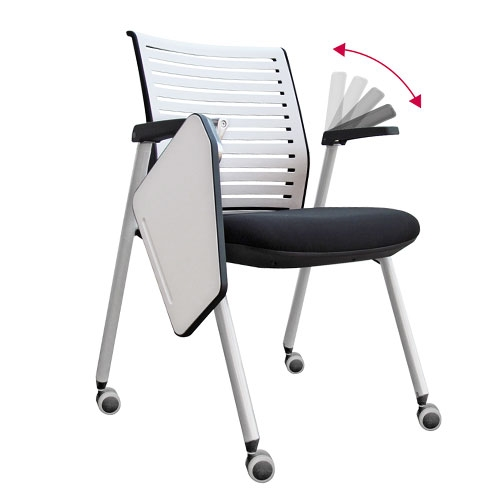 Miraculous Nova Tablet Arm Folding Chair On Castors Training Room Alphanode Cool Chair Designs And Ideas Alphanodeonline